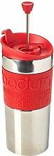 Bodum TRAVEL PRESS Kaffeebereiter (French Press System, Doppelwandig, 0,35 liters) ro