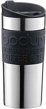Bodumtravel mug Thermobecher aus Edelstahl (Doppelwandig, Spülmaschinengeeignet, 0,35 liters) schwarz