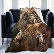 BODY-Fleece-Überwurf, Traumfänger, Eulen-Design,