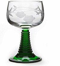 Boeckling–Lot de 6Gläser a Wein D 'Alsace Fuß Zopfmuster Größe 4Flower Clusters Roemer 27cl