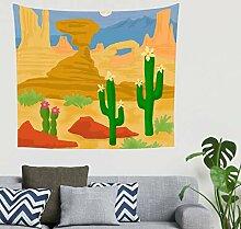 Böhmisch Bunt Grün Kaktus Wilde Wüste Kunstwerk