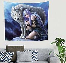 Böhmisch Gebürtiger Inder Mädchen Wolf