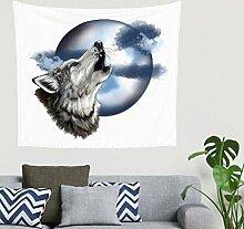Böhmisch Mandala Indianer Heulender Wolfskopf