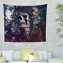 Böhmische Schädel mit Rosen Wandbehang