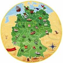 Böing Carpet DE-Map Teppich - Deutschland, 130