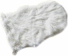 Böing Carpet Schaffell Imitat, Acryl, Weiß