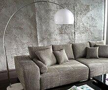 Bogenlampe Big-Deal XL Lounge Weiß Marmor
