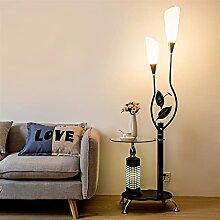 Bogenlampe Moderne Stehleuchte mit Glasregalen, 2