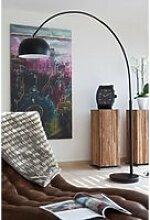 Bogenlampe schwarz mit Dimmer 195 cm, B/T/H: