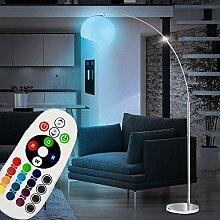 Bogenlampe silber Bogenstehlampe Wohnzimmer
