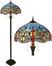 Bogenlampe Vintage Buntglas Stehleuchte,