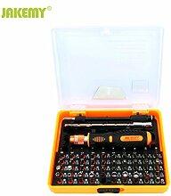 Boger JM-8127 53 In 1 Multi Funktionen Magnetische Schraubendreher-satz Zerlegen Haushalt Werkzeuge für Telefon PC