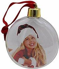 Bogget Weihnachten transparentem Kunststoff Foto