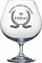 Bohemia Crystal Brandy-Glas mit Happy 50th