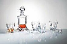 Bohemia Crystal Whisky Service 7 -tlg: 1 Karaffe +