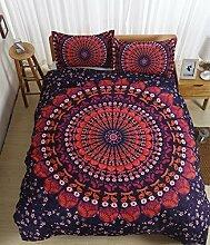 Bohemia rot Blume Muster Bettbezug Set