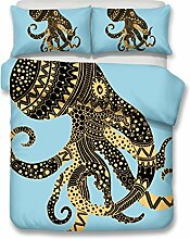 Bohemia Stil Octopus Muster 3D Bettwäsche-Set