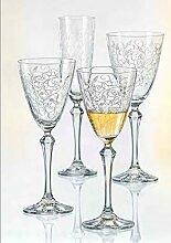 Bohemia Weißweingläser Kristall, Weinglas, Model