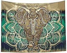 Bohemian-Elefanten-Tapisserie – Mandala Boho