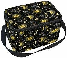 Bohemian Sun Moon Pattern Lunchbox-Tasche,