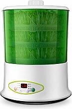 Bohnensprossen Maschine Vorspeise kleine Pflanze Wachstum Kontrolle Hause Bohnensprossen Maschine automatische Thermostat Bohnensprossen Maschine alle funktionale Timing rohe Bohnensprossen Maschine K , , three layers of green