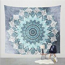 Boho Mandala Tapisserie Wandteppiche Hippie-Tapisserie Indian Wandbehang Decke Picknickdecke Tagesdecke Vorhang Decor, 210x150cm, #15