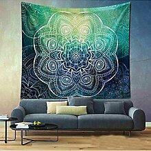 Boho Mandala Tapisserie Wandteppiche Hippie-Tapisserie Indian Wandbehang Decke Picknickdecke Tagesdecke Vorhang Decor, 150x130cm, #12