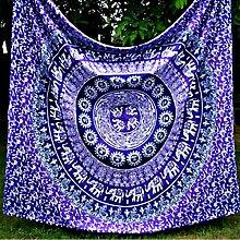 Boho Mandala Tapisserie Wandteppiche Hippie-Tapisserie Indian Wandbehang Decke Picknickdecke Tagesdecke Vorhang Decor, 150x130cm, #8