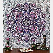Boho Mandala Tapisserie Wandteppiche Hippie-Tapisserie Indian Wandbehang Decke Picknickdecke Tagesdecke Vorhang Decor, 150x130cm, #14