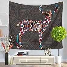 Boho Tier Tapisserie–memorecool Haustierhaus Schöne spezielle Design für alle Orte 100% Polyester 149,9x 129,5cm, Polyester, pattern1, 59x79inch
