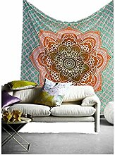 Boho-Wanddecke, mit verschiedenen Designs, geeignet als Picknickdecke/Bettüberwurf/Vorhang/Dekoration/Tischdecke/Strandtuch/Yoga-Matte, P, M