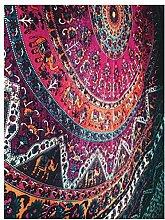 Boho-Wanddecke, mit verschiedenen Designs, geeignet als Picknickdecke/Bettüberwurf/Vorhang/Dekoration/Tischdecke/Strandtuch/Yoga-Matte, A2, M