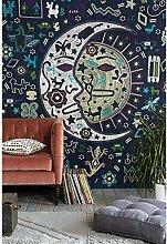 Boho-Wanddecke, mit verschiedenen Designs, geeignet als Picknickdecke/Bettüberwurf/Vorhang/Dekoration/Tischdecke/Strandtuch/Yoga-Matte, Z, Large