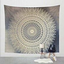 Boho-Wanddecke, mit verschiedenen Designs, geeignet als Picknickdecke/Bettüberwurf/Vorhang/Dekoration/Tischdecke/Strandtuch/Yoga-Matte, Z1, Large