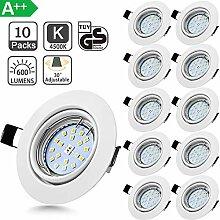 Bojim 10er LED Einbaustrahler 230V GU10 Set