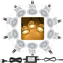 Bojim 10er Set LED Einbaustrahler, IP67