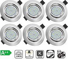 Bojim GU10 LED Einbaustrahler 6er set schwenkbar