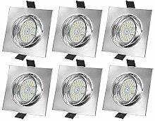 Bojim LED Einbaustrahler 230V dimmbar ohne Dimmer,