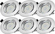 Bojim LED Einbaustrahler dimmbar GU10 230V 68-80mm