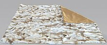 bokke Felldecke Rabbit, Naturfell, Naturbeige 120x180cm, 180 x 120 cm