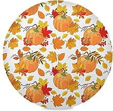 Bolaz Rundes Tischset, Herbstkürbis-Design,