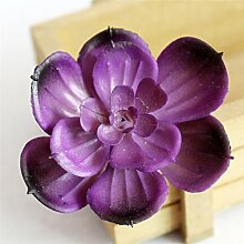 boldion (TM) Simulation Lotus Lithops künstlichen Blumen Ornamente violett Sukkulenten Pflanzen Garten Dekoration DIY Zubehör E5 2