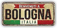 Bologna City Italy Retro Vintage Emblem -