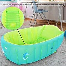 BOLORAMO Faltbares Baby-Duschbecken, Farbe Grün,