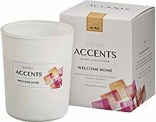 Bolsius ACCENTS Kerze Baumwoll-Docht 0 W, White