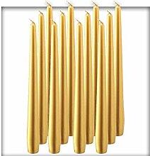 bolsius Spitzenkerzen Gold 245/24 mm