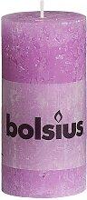 Bolsius Stumpenkerze Rustik Flieder 100/55 mm