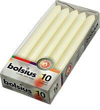 Bolsius Torpedokerze Elfenbein - 10 Stück