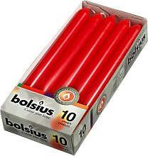 Bolsius Torpedokerze Rot - 10 Stück