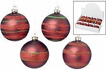 Boltze Christbaumkugel Weihnachtskugel Set/12 rot